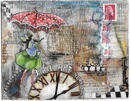 echange de mail art sur INCARTADES  Nov - Décembre