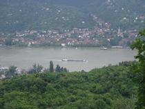 Danube rive slovaque vue en descendant camping