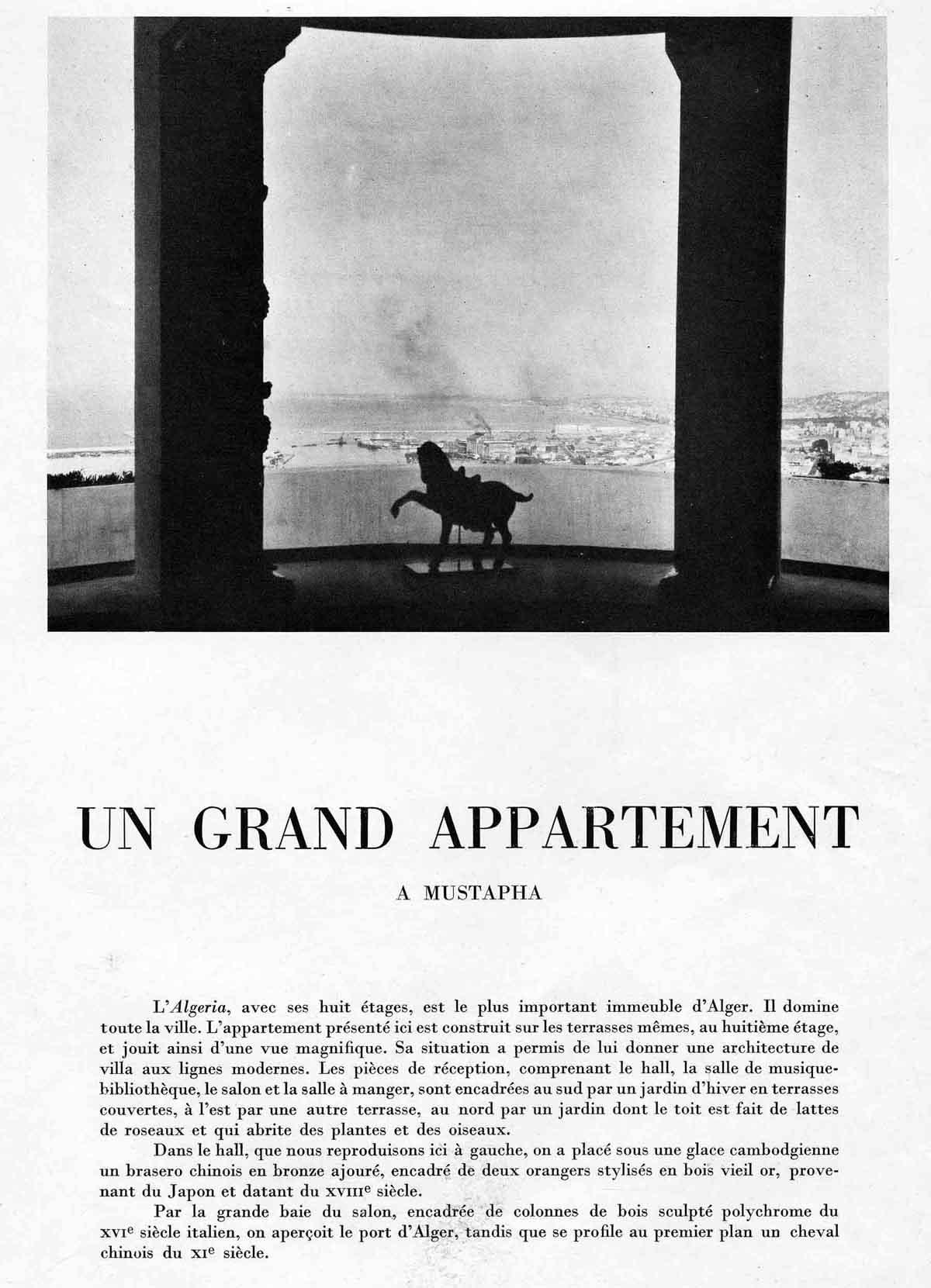Belles demeures : Un appartement à Mustapha