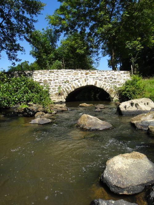 La rivière Aron à Buchaud (Mayenne)
