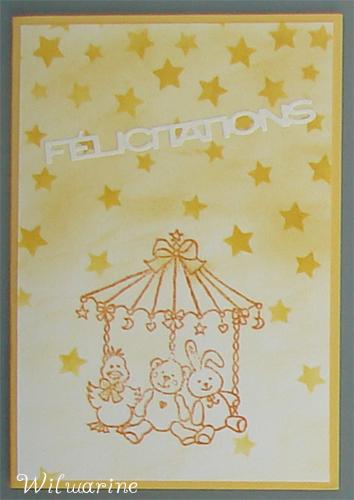 carte naissance jaune