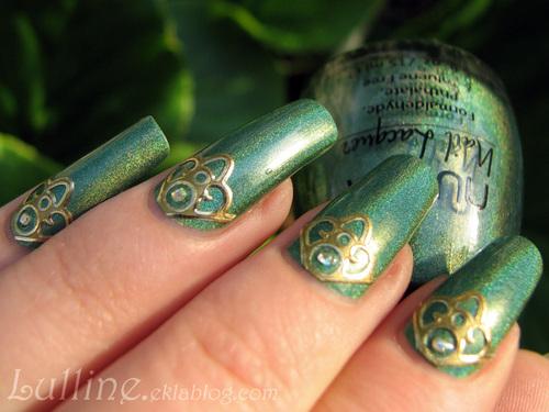 Nail Art Elfe Sylvain
