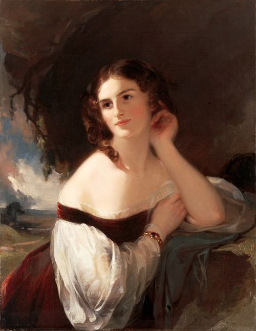 Thomas Sully (1783 - 1872) - Portrait of Fanny Kemble, 1834