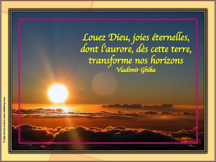 Louez Dieu, joies éternelles