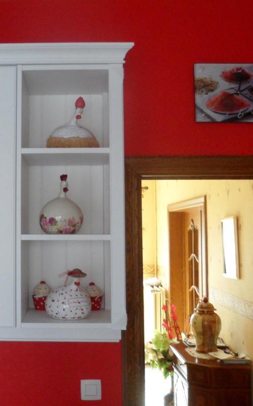 Petits bonheurs de Mme la Fée - Premières photos de ma cuisine - Bouquet de jacinthes