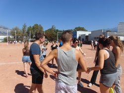 Epreuve d'ultimate frisbee du business game