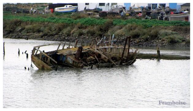 Cimetiere de bateaux à Noirmoutier