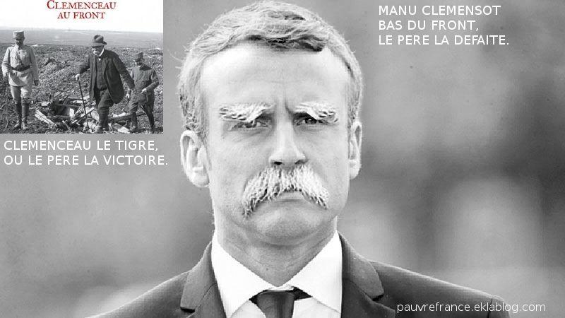 Macron se prend pour Clemenceau.