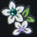 Stickers d'ongle edelweiss en duo en été