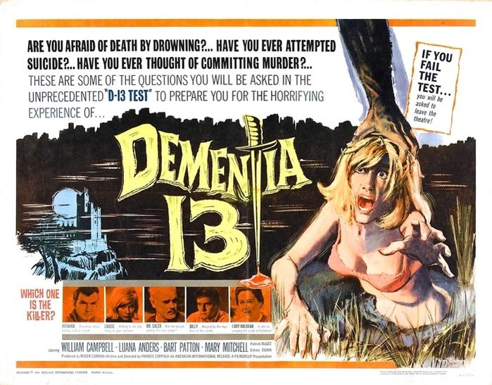 DEMENTIA 13 BOX OFFICE USA 1963