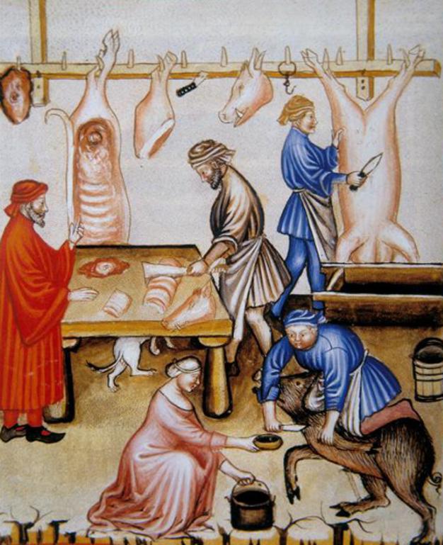 """Résultat de recherche d'images pour """"abattage des cochons en peinture"""""""