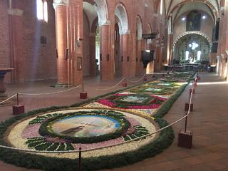 L'Église abbatiale de Chiaravalle della Colomba - la nef et collateral nord