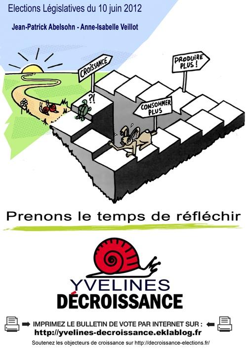 """Affiche de campagne """"Yvelines-Décroissance"""""""