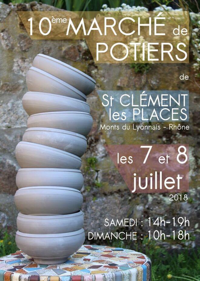 Marché potiers St Clément les Places
