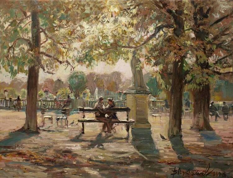 Viktor Loukianov. Les amoureux du Jardin du Luxembourg