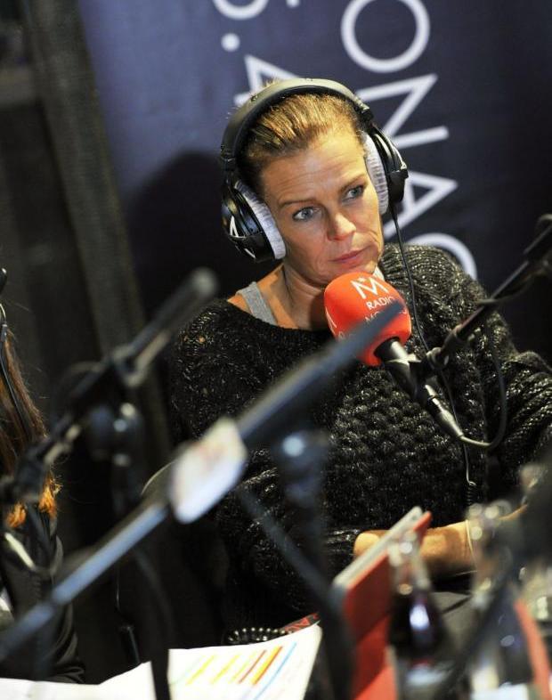 Stéphanie à la radio