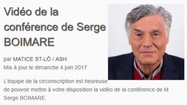 Conférence de Serge Boimare à St Lô