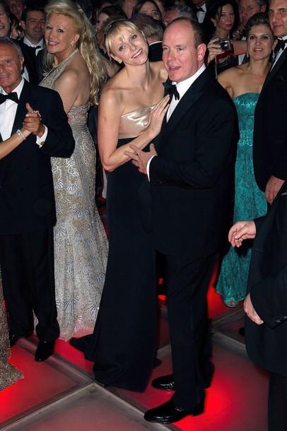 Charlène et Albert au bal de la rose