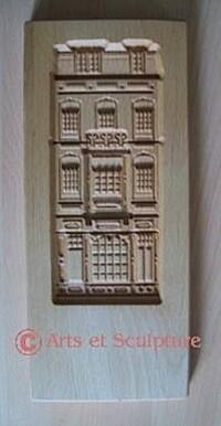 moule à biscuit façade Bruxelloise - Arts et Sculpture: sculpteur sur bois