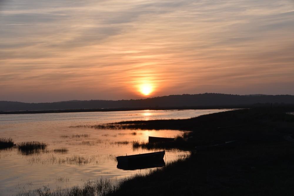 Lumière cuivrée du coucher de soleil du 24 mars 2019