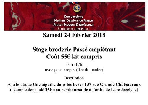 Stage Châteauroux 17 février