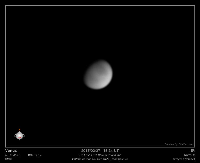 Venus, le 27 fevrier
