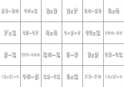 calendrier de l'avent à partir de calculs