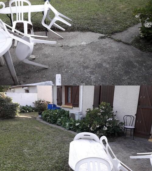 Suite de notre tremblement de terre et terrasse