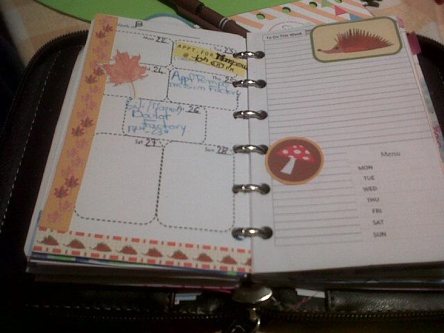 dernières semaines de Septembre décorés!!