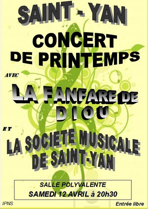 Saint-Yan Concert de Printemps