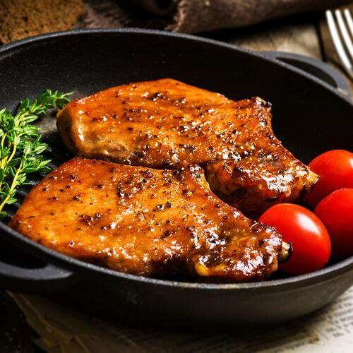 Côtes de porc au miel