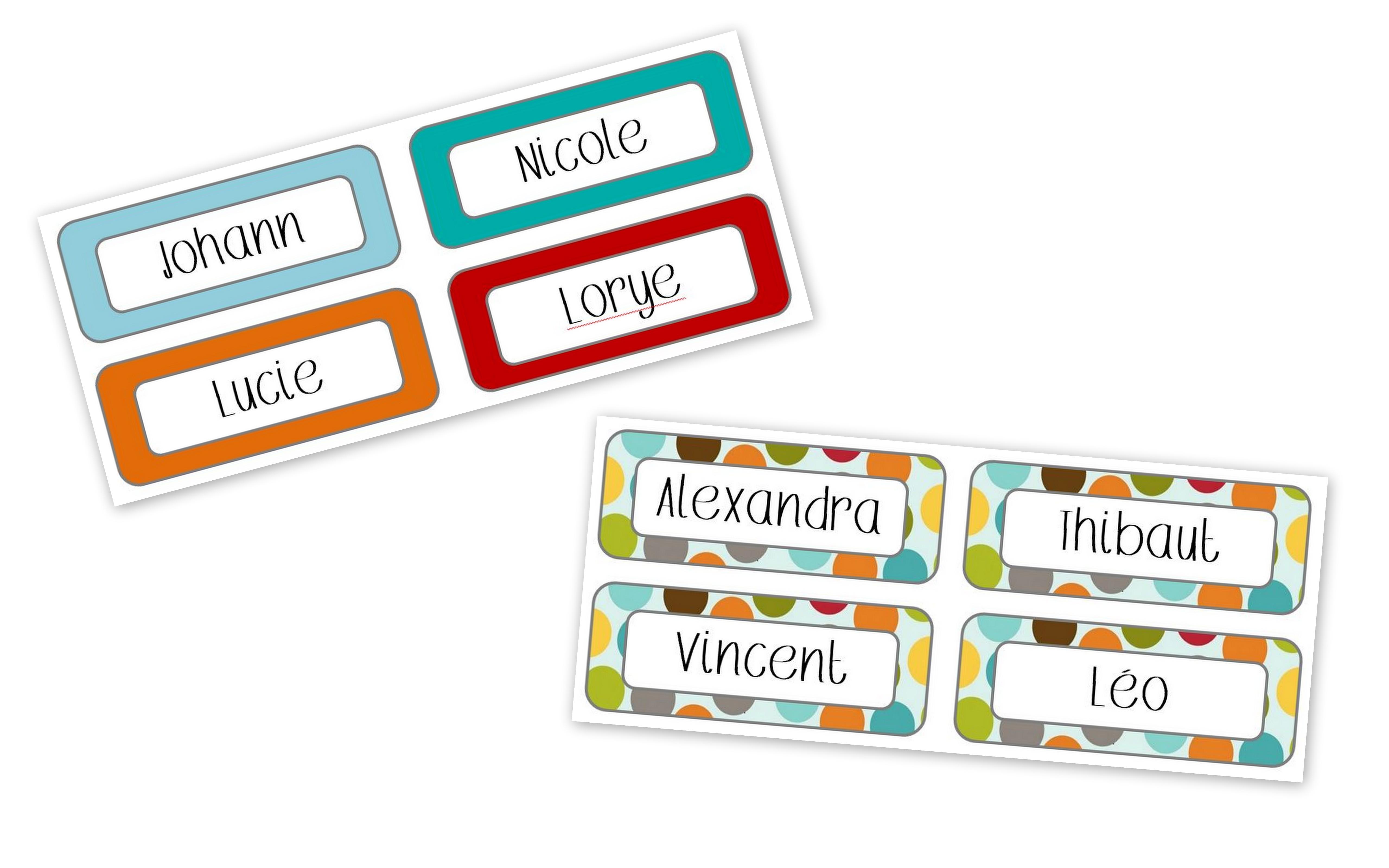 Tableau des responsabilit s la classe de charlotte - Etiquette prenom a imprimer ...