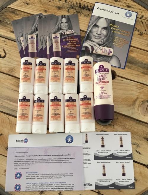 Test après-shampooing 3 minute miracle reconstructor d'Aussie (campagne Envie de plus)