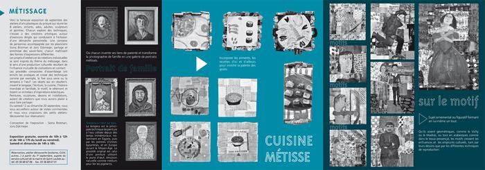 Programme de l'exposition Métissage, à la Coupole du 12 au 20