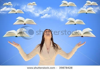 stock-photo-girl-looking-up-with-flying-books-around-her-with-sky-and-clouds-in-background-39878428