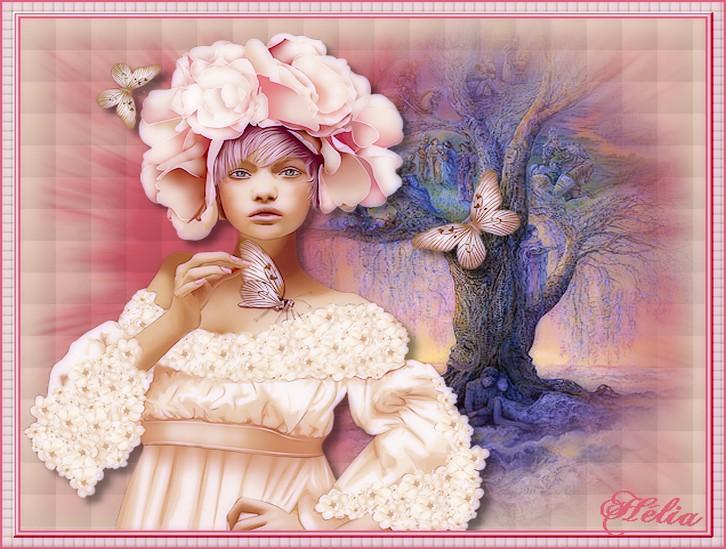 femme en rose