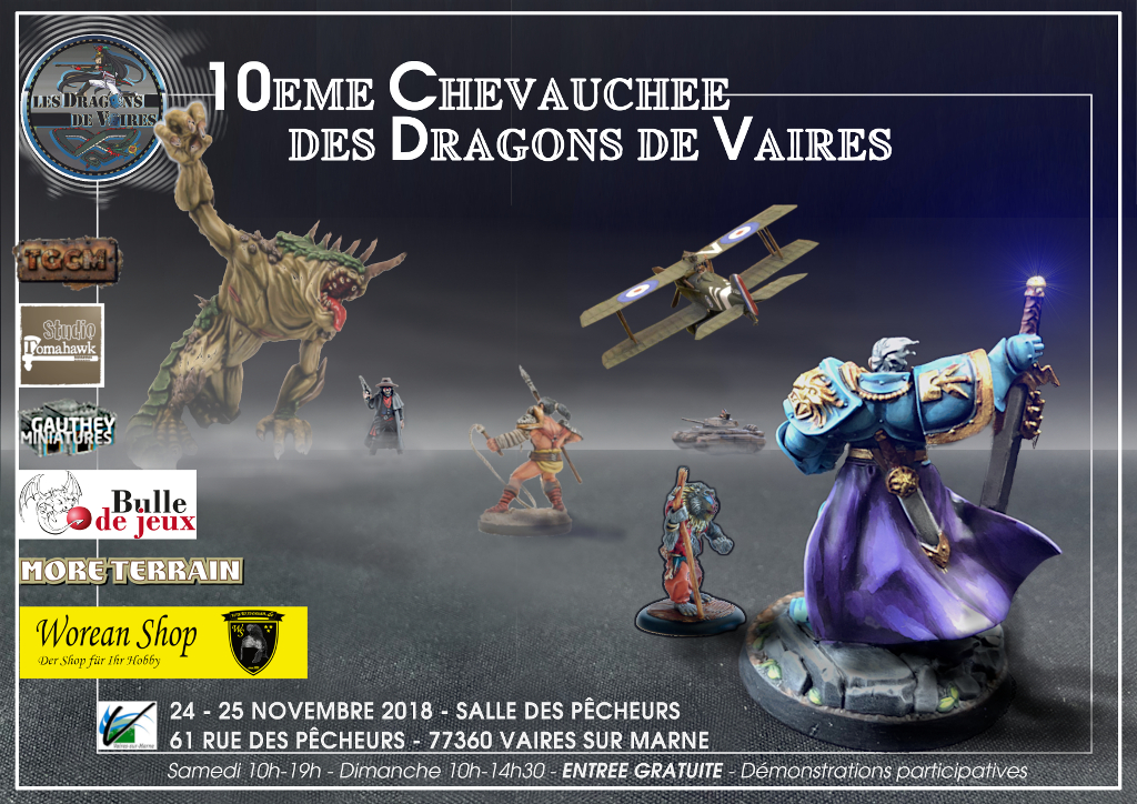 Rappel : 10° convention de Dragons de Vaires