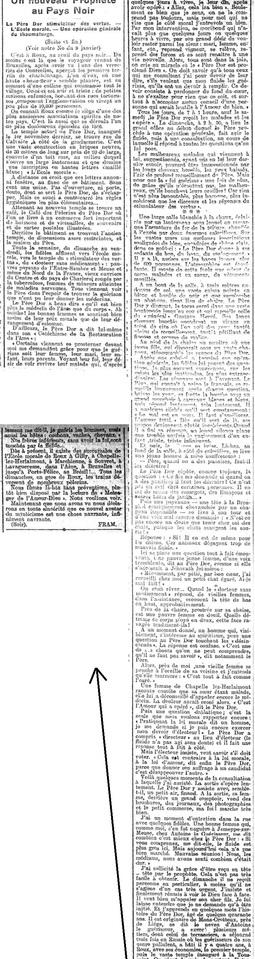 Un nouveau prophète au Pays Noir (Le Soir, 9 janvier 1913)(Belgicapress)