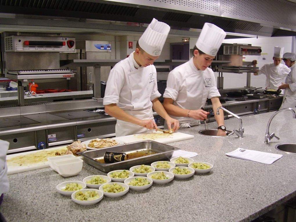 La section européenne en cuisine