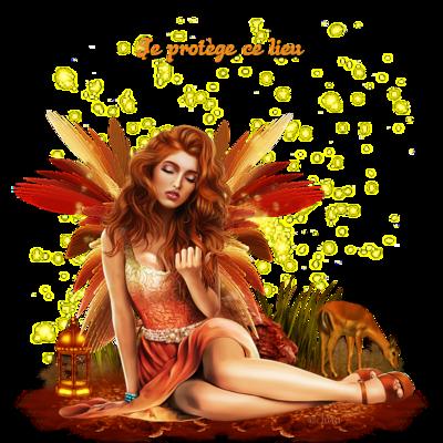Ange ailé automne lampe magique code inclus