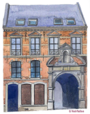Mons,noirfalise, aquarellesn   refuges d' abbayes ,abbeys 's  shelters, toevlucht  ,  abdij  , Hainaut Be
