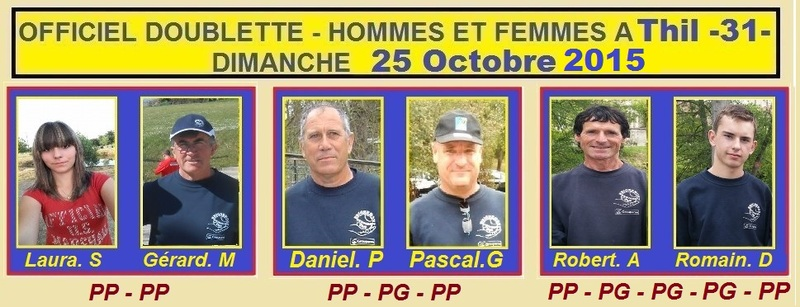 Officiel Doublettes Hommes et Femmes à Thil (dernier concours du Secteur).
