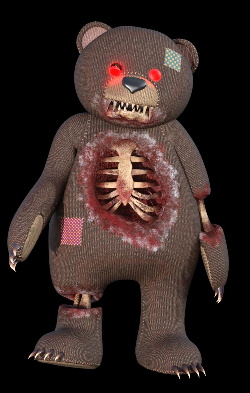 Image d'ourson hanté d'Halloween (render)