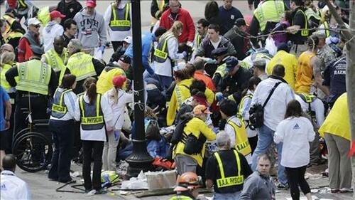 Le vol après l'explosion de Boston