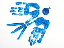 Blue bird handprint craft