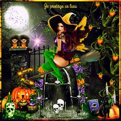 Le jour d' Halloween protège lieu code inclu