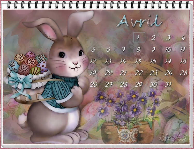 * Mes Calendriers d'Avril *