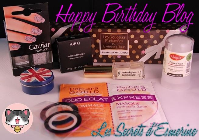 Concours : Fêtons ce Birthday Blog ! Les secrets d'esmerine