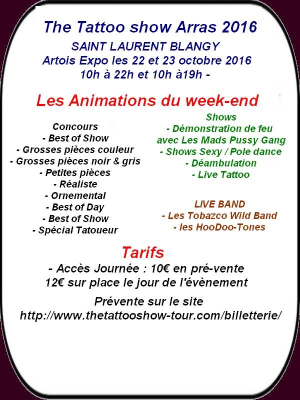 Concerts, brocantes, salon tatouage, rando etc.. c'est ce week-end à ARRAS et ses environs.