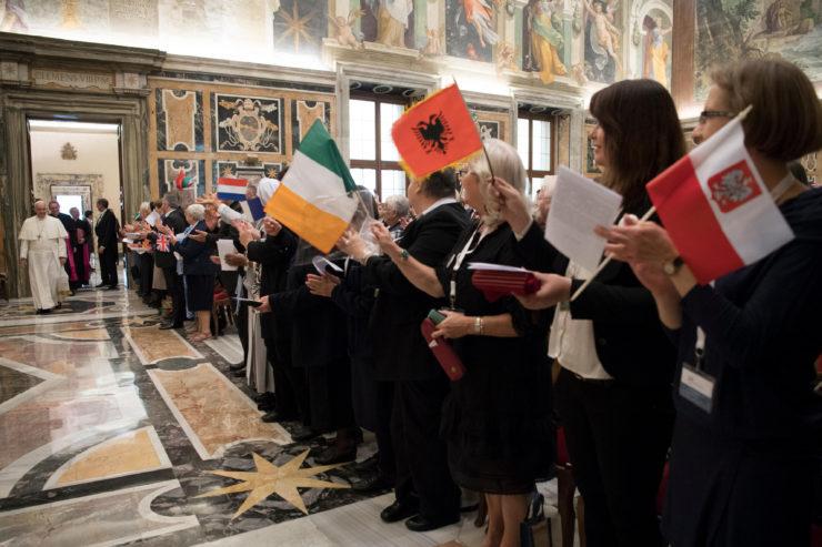 RENATE, audience pontificale, 7 nov. 2016 © L'Osservatore Romano